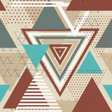 Abstract hipster polygon triangle background Royalty Free Stock Images