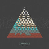 Abstract hipster polygon triangle background Royalty Free Stock Image
