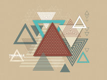 Abstract hipster polygon triangle background Royalty Free Stock Photos
