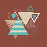 Abstract hipster polygon triangle background Stock Photo