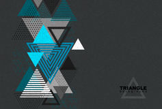 Abstract hipster triangle background. Royalty Free Stock Photos