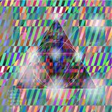 Abstract hipster triangle Stock Image