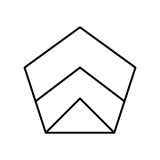 Abstract hipsterembleem in moderne lineaire stijl Vector Illustratie