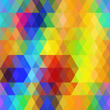 Abstract hipsters seamless pattern with bright rainbow color rhombus. Geometric background. Vector Royalty Free Stock Photo