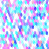 Abstract hipsters seamless pattern with colored hexagons, pink, blue. Geometric background. Vector. Illustration Stock Photos