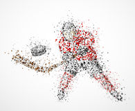 Abstract hockey player Royalty Free Stock Photos