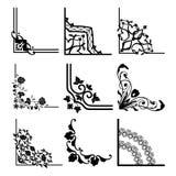 Abstract Hoekpatroon stock illustratie