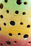 Abstract hole background. From ceramic lamb Stock Image