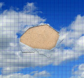 Abstract hole in a paper sheet Royalty Free Stock Photo