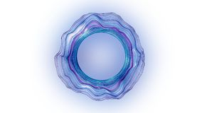 Abstract hole portal. Abstract epic hole portal with alpha channel royalty free illustration