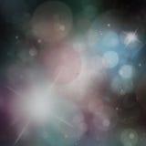 Abstract holiday background. Beautiful shiny Christmas lights, glowing magic bokeh Stock Photo
