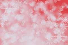 Abstract holiday background, Christmas lights, snowflakes. Red abstract holiday background, Christmas lights, snowflakes and bokeh stock illustration