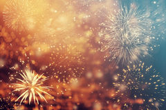 Abstract holiday background with fireworks Royalty Free Stock Images