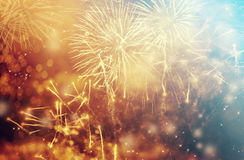 Abstract holiday background with fireworks Royalty Free Stock Photos