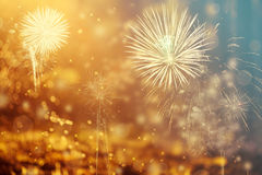Abstract holiday background with fireworks Royalty Free Stock Image