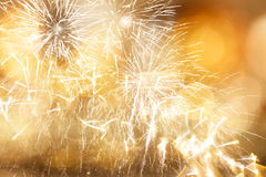 Abstract holiday background with fireworks Stock Images