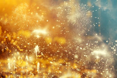 Abstract holiday background with fireworks. Abstract colorful holiday background of sky with fireworks and stars Stock Image