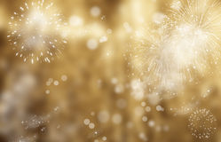 Abstract holiday background - fireworks at New Year and copy spa Royalty Free Stock Photos