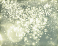 Abstract holiday background with fireworks. Fireworks at New Year and copy space Stock Photography