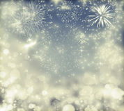 Abstract holiday background with fireworks. Fireworks at New Year and copy space Stock Photo