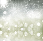 Abstract holiday background with fireworks. Fireworks at New Year and copy space Stock Photos