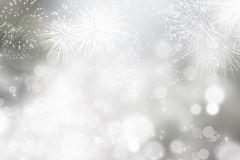 Abstract holiday background with fireworks. Fireworks at New Year and copy space Royalty Free Stock Images