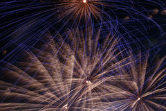 Fireworks in night sky Royalty Free Stock Image