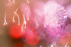 Abstract holiday background with fireworks and stars Royalty Free Stock Photography