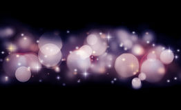 Abstract holiday background of glowing lights Royalty Free Stock Image