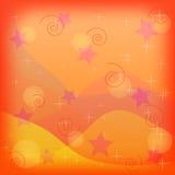 Abstract holiday background, orange Royalty Free Stock Photo