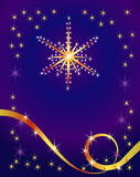 Abstract holiday background with star. For your design Stock Photography