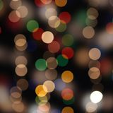 Abstract holiday boke background, illumination on dark Royalty Free Stock Photography