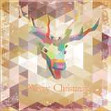 Abstract Holiday Christmas Background Grunge Retro Royalty Free Stock Photography