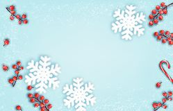 Abstract holiday christmas background with snowflake. stock illustration