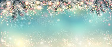 Abstract holiday christmas light panorama. royalty free illustration