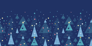 Abstract holiday Christmas trees horizontal Royalty Free Stock Photos