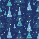 Abstract holiday Christmas trees seamless pattern Royalty Free Stock Photography