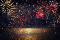 abstract holiday firework background. Stock Photo
