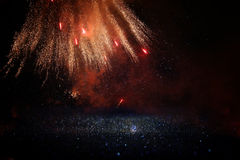 abstract holiday firework background. Stock Photos