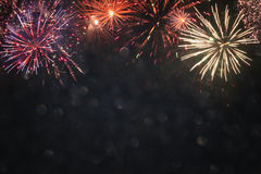 abstract holiday firework background. Royalty Free Stock Photos