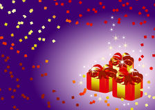 Abstract holiday gift background Royalty Free Stock Images