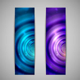 Abstract holiday glowing banners Royalty Free Stock Images