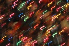 abstract holiday lights στοκ εικόνα