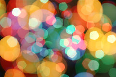 Abstract holiday lights Stock Photo