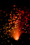 Abstract holiday lights background. Over black Stock Photography