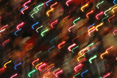 Abstract Holiday Lights. Bokeh effect with christmas lights on the tree stock image