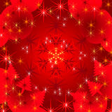 Abstract holiday red background with stars Royalty Free Stock Photo