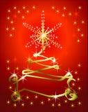 Abstract holiday ribbon tree background Stock Photo