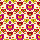 Abstract holiday seamless pattern with hearts 3 Stock Photography