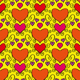 Abstract holiday seamless pattern with hearts Royalty Free Stock Images
